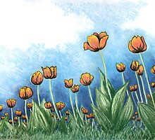 Tulips by Lisa Frances Judd ~ QuirkyHappyArt