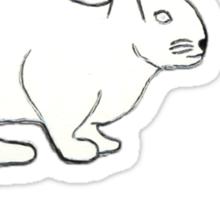 follow the white rabbit... Sticker