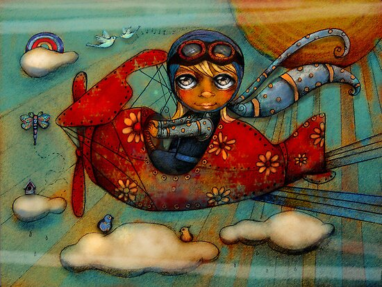 Little Red Plane by Karin  Taylor