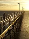 Mid-stride, Ceduna Pier, SA by Ell-on-Wheels