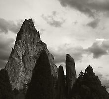 Garden of the Gods B&W by Carl M. Moore