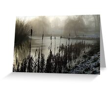 Morning on the Golf Course Greeting Card