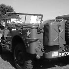 w.w.2 u.s.jeep bw by Cliffyj