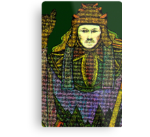 HIEROPHANT TAROT CARD INSPIRED DESIGN BY LIZ LOZ Metal Print