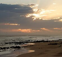 Ray of light, Sunset at Beachview, Port Elizabeth, Eastern Cape, South Africa by Carel du Preez