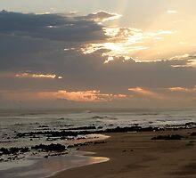 Ray of light, Sunset at Beachview, Port Elizabeth, Eastern Cape, South Africa by Carel du Preez