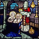 198208190007 Stained glass window presentation of Jesus Geraldton by Fred Mitchell