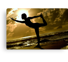 Dancer Pose Silhouette Canvas Print