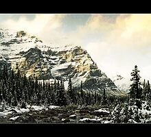 Mountain Scene (Bordered) by Chad Kruger
