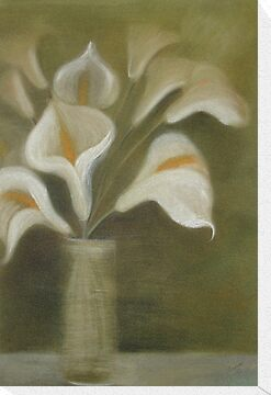 Calla&#x27;s In A Vase by taiche