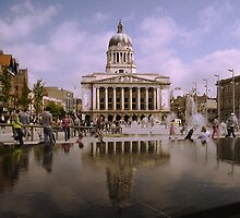 Nottingham Old Market Square by Chris Bunce