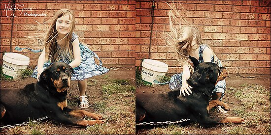 Just Playing With The Dog by Helen Green