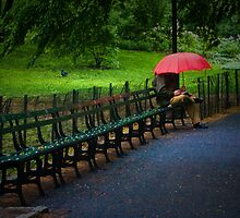 The Red Umbrella by Peter Maeck