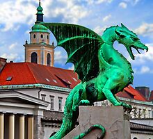 Dragon Bridge, Ljubljana, Slovenia by vadim19