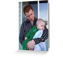 Father and Son Greeting Card