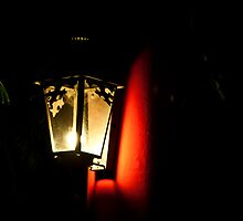 Red Pillar Light by phil decocco