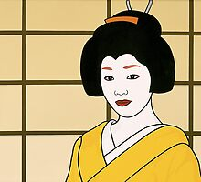Geisha in Yellow by Simone Maynard