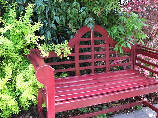 English Garden Bench by JeffeeArt4u