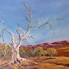 Magic tree in Flinders Ranges, South Australia by Kay Cunningham