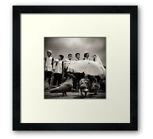 just fly like a dove boys Framed Print