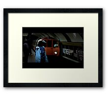 Cinematic subway Framed Print