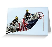 Unveiling The US Flag Greeting Card