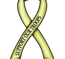 support our troops ribbon by gklfreeman