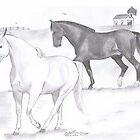 horses by gklfreeman