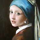 &quot;Girl with the Pearl Ear Ring&quot; After Vermeer   by Cathy Amendola