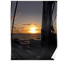 Catamaran Sunset ~ Nassau the Bahamas Poster