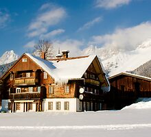 The Lodge - Austrian Alps by Joel  Staples