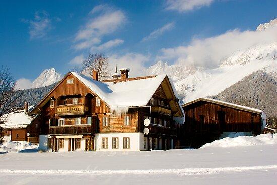 The Lodge - Austrian Alps by Joel  Staples
