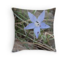 Nectar Sharing of a Wild Bluebell Throw Pillow