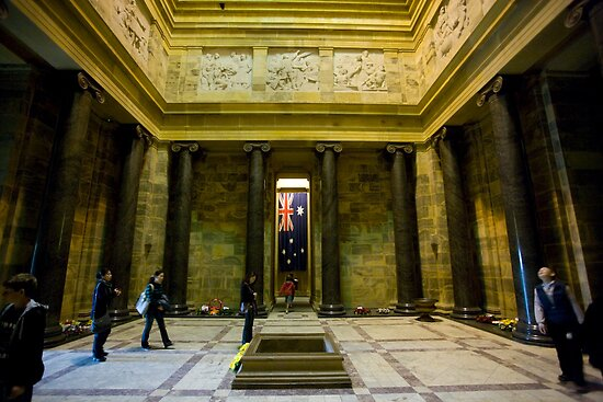 ANZAC Day at The Shrine of Remembrance by Michael Eyssens