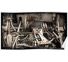 Aircraft Engine Detail Poster