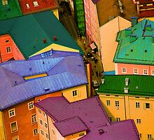 Rooftops - Austria by Kent DuFault