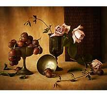 Grapes and Roses Photographic Print