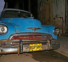 Blue Chevy early morning, Havana, Cuba by buttonpresser