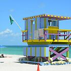 Another South Beach Lifeguard Hut by Pamela McCreight