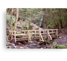 Coal Creek Falls and Foot Bridge Canvas Print