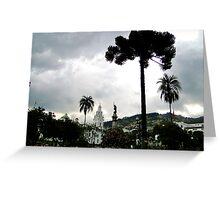 Plaza Grande, Quito, Ecuador Greeting Card