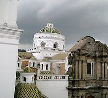 Quito, Ecuador Cathedral Domes by Al Bourassa
