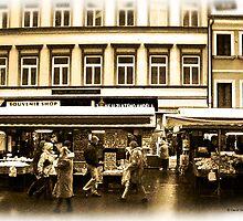 Street Market in Prague by David's Photoshop