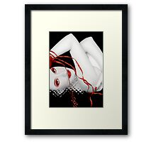 The Red Facade - Self Portrait Framed Print