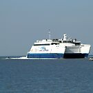 Lake Express Ferry on Lake Michigan by BarbL