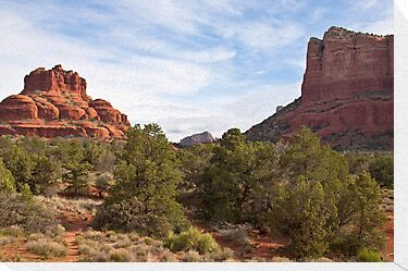 Bell Rock and Courthouse Butte, Sedona, AZ by Barb White