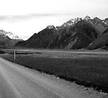 Tasman Valley Road - New Zealand by bayside2