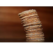 The Leaning Tower of Crackers Photographic Print
