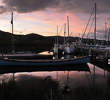 Longboat at dawn by Mark Hanna