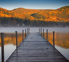 Autumn Morning at Lake Morey, Vermont by Mark Lancaster